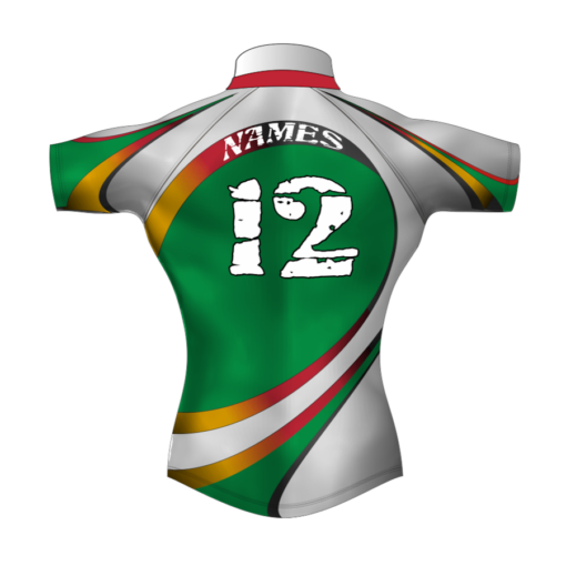 Colourful Bespoke Rugby Tour Shirt TRS 434 Back - Badger Rugby