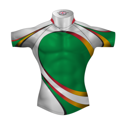 Colourful Bespoke Rugby Tour Shirt TRS 434 Front - Badger Rugby