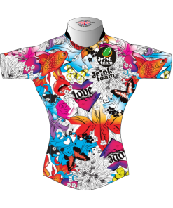 Colourful Bespoke Rugby Tour Shirt TRS 580 Front - Badger Rugby