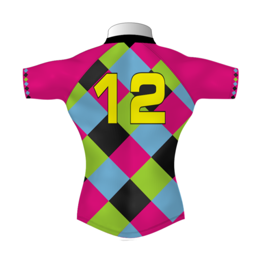 Colourful Bespoke Rugby Tour Shirt TRS 587 Back - Badger Rugby