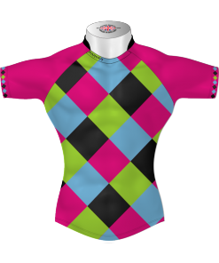 Colourful Bespoke Rugby Tour Shirt TRS 587 Front - Badger Rugby