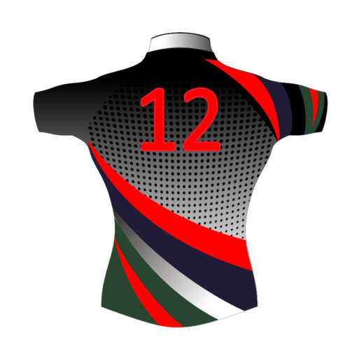 Colourful Custom Rugby Shirt TMS 439 Back - Badger Rugby