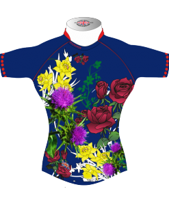 Colourful Personalised Rugby Tour Shirt TRS 441 Front - Badger Rugby