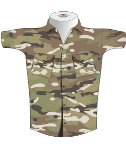 Custom Military Rugby Tour Shirt TRS 675 Front - Badger Rugby