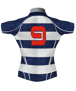 ffa28d9db7 ... Front - Badger Rugby Hooped Bespoke Rugby Shirt TMS 633 Back - Badger  Rugby. Custom Rugby Playing Shirts