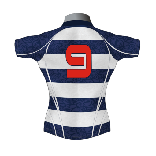 Hooped Bespoke Rugby Shirt TMS 633 Back - Badger Rugby