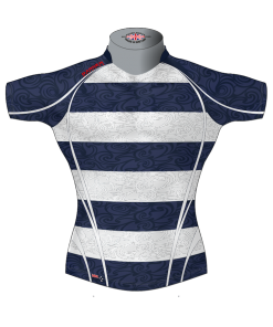 Hooped Bespoke Rugby Shirt TMS 633 Front - Badger Rugby