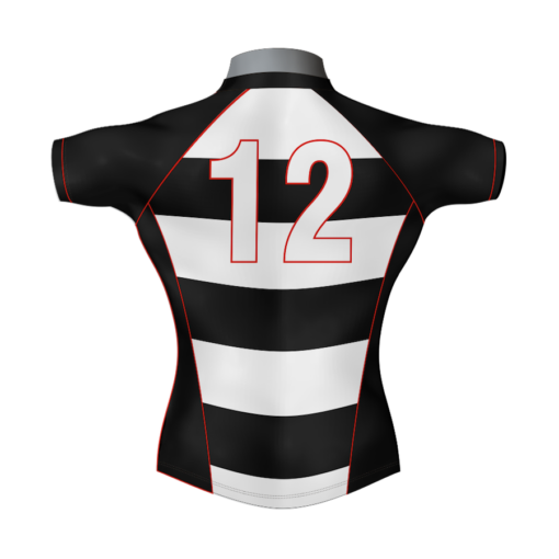 Hooped Custom Rugby Shirt TMS 415 Back - Badger Rugby