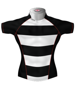 Hooped Custom Rugby Shirt TMS 415 Front - Badger Rugby