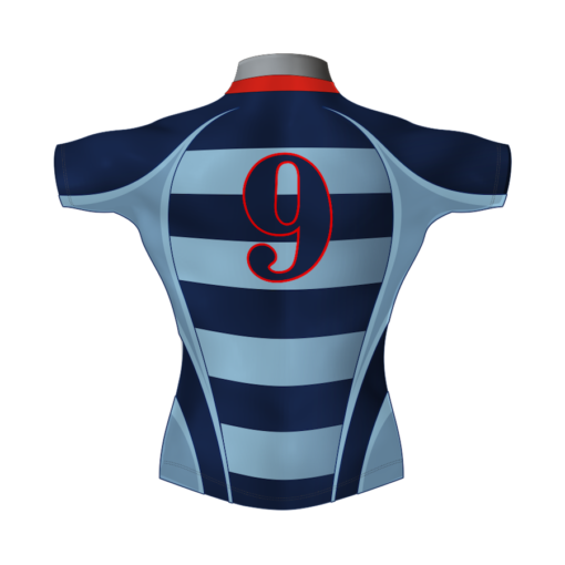 Hooped Personalised Rugby Shirt TMS 451 Back - Badger Rugby