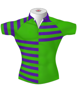 Quarter Striped Bespoke Rugby Shirt TMS 412 Front - Badger Rugby