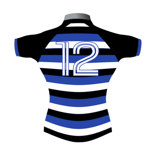 Striped Bespoke Rugby Shirt TMS 403 Back - Badger Rugby