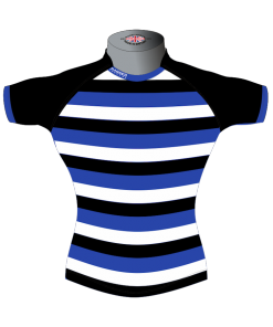 Striped Bespoke Rugby Shirt TMS 403 Front - Badger Rugby