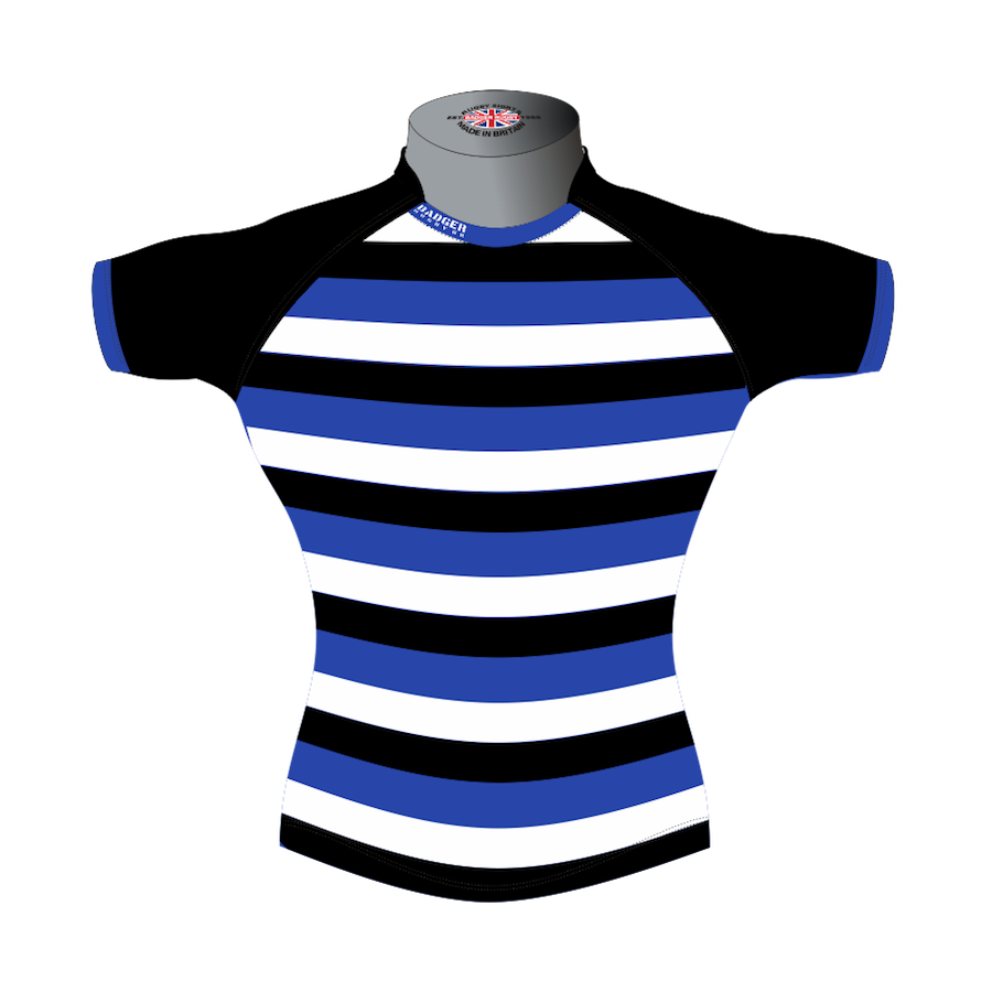 48275f1475 Striped Bespoke Rugby Shirt TMS 403 Front - Badger Rugby