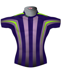 Striped Custom Rugby Shirt TMS 512 Front - Badger Rugby