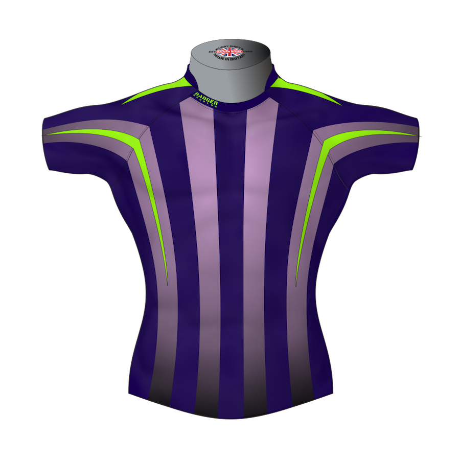 e7c1551dab Striped Custom Rugby Shirt TMS 512 Front - Badger Rugby