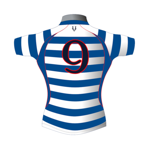 Striped Personalised Rugby Shirt TMS 436 Back - Badger Rugby