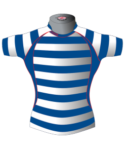Striped Personalised Rugby Shirt TMS 436 Front - Badger Rugby