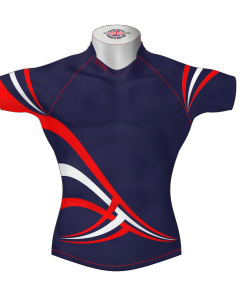 Stylish Bespoke Rugby Shirt TMS 630 Front - Badger Rugby