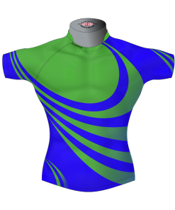 Stylish Custom Rugby Shirt TMS 562 Front - Badger Rugby