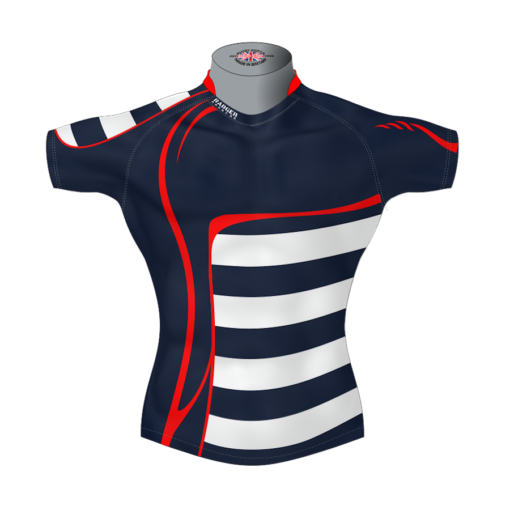 Stylish Custom Rugby Shirt TMS 625 Front - Badger Rugby