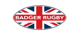 Badger Rugby Ball Logo White Text - Badger Rugby
