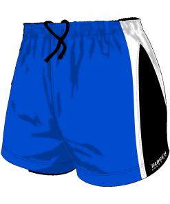 Custom, Bespoke Rugby Short Design 251 Front - Badger Rugby
