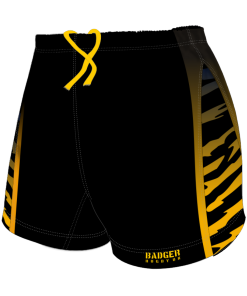 Custom, Bespoke Rugby Short Design 255 Front - Badger Rugby