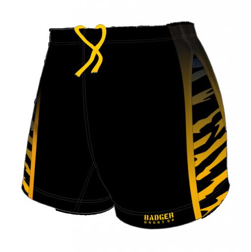 Custom, Bespoke Rugby Short Design 255 Front - Badger Rugby