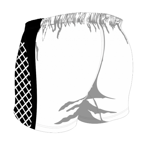Custom, Bespoke Rugby Short Design 259 Back - Badger Rugby