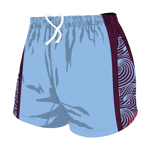 Custom, Bespoke Rugby Short Design 268 Front - Badger Rugby
