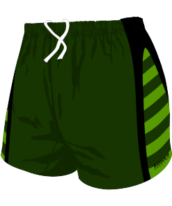 Custom, Bespoke Rugby Short Design 274 Front - Badger Rugby