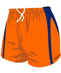 Custom, Bespoke Rugby Short Design 277 Front - Badger Rugby