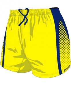 Custom, Bespoke Rugby Short Design 278 Front - Badger Rugby