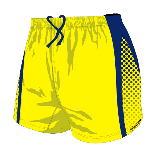 Custom, Bespoke Rugby Short Design 278 Front - Badger Rugby