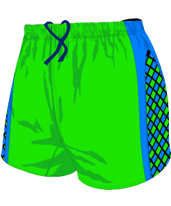 Custom, Bespoke Rugby Short Design 279 Front - Badger Rugby