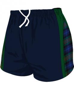 Custom, Bespoke Rugby Short Design 281 Front - Badger Rugby