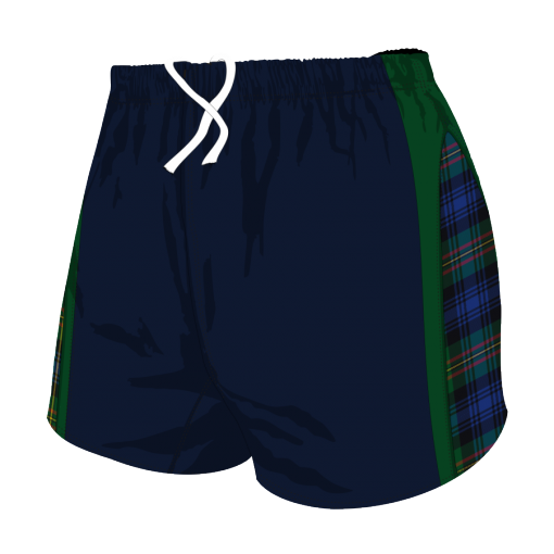 Custom, Bespoke Rugby Short Design 281 Front - Badger Rugby