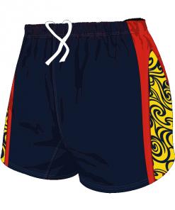 Custom, Bespoke Rugby Short Design 283 Front - Badger Rugby