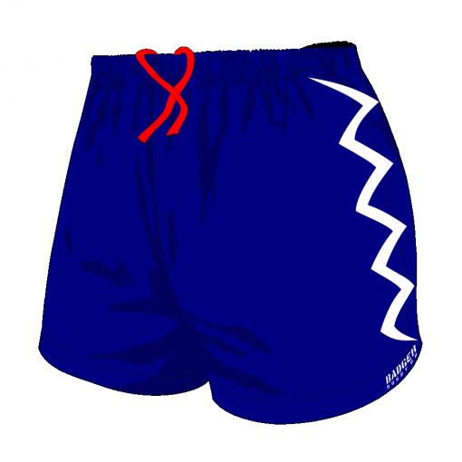 Custom, Bespoke Rugby Short Design 406 Front- Badger Rugby