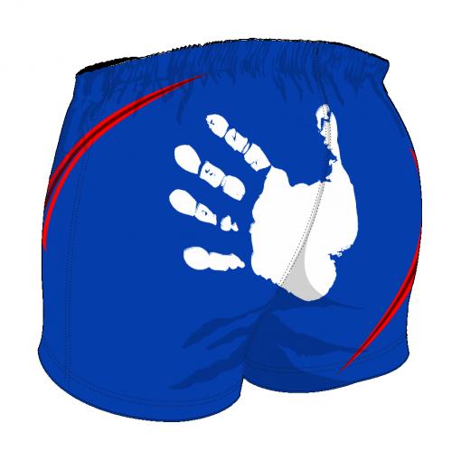 Custom, Bespoke Rugby Short Design 408 Back - Badger Rugby