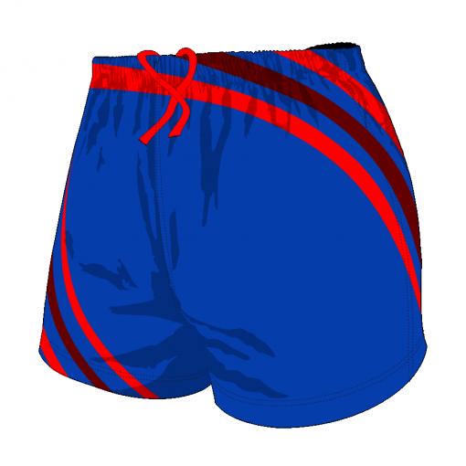Custom, Bespoke Rugby Short Design 408 Front - Badger Rugby