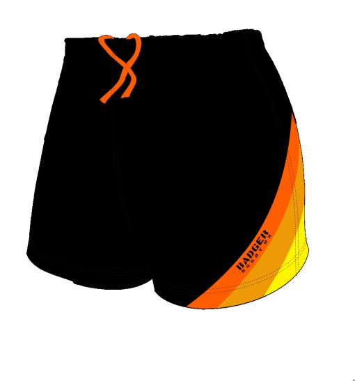 Custom, Bespoke Rugby Short Design 412 Front - Badger Rugby