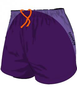 Custom, Bespoke Rugby Short Design 413 Front - Badger Rugby