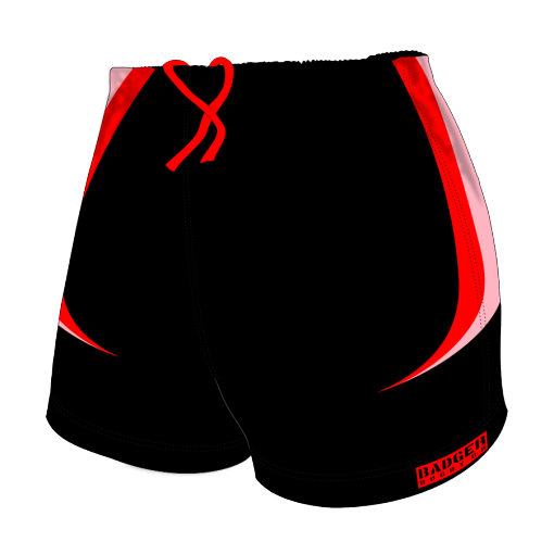 Custom, Bespoke Rugby Short Design 414 Front - Badger Rugby