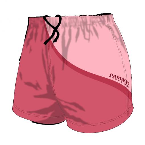 Custom, Bespoke Rugby Short Design 415 Front - Badger Rugby