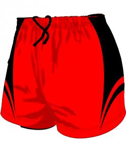 Custom, Bespoke Rugby Short Design 416 Front - Badger Rugby