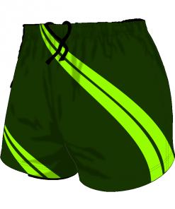 Custom, Bespoke Rugby Short Design 418 Front - Badger Rugby