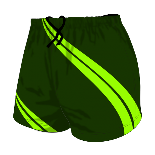 Custom, Bespoke Rugby Short Design 418 Front - Badger Rugby