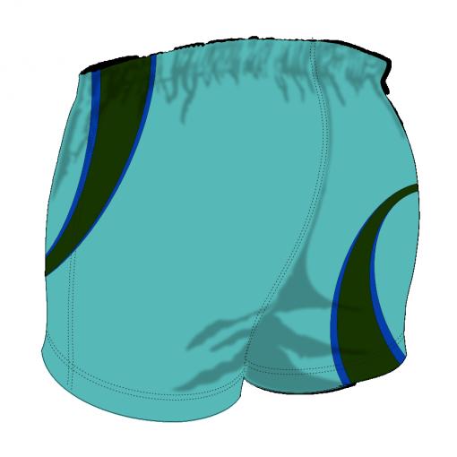 Custom, Bespoke Rugby Short Design 420 Back - Badger Rugby
